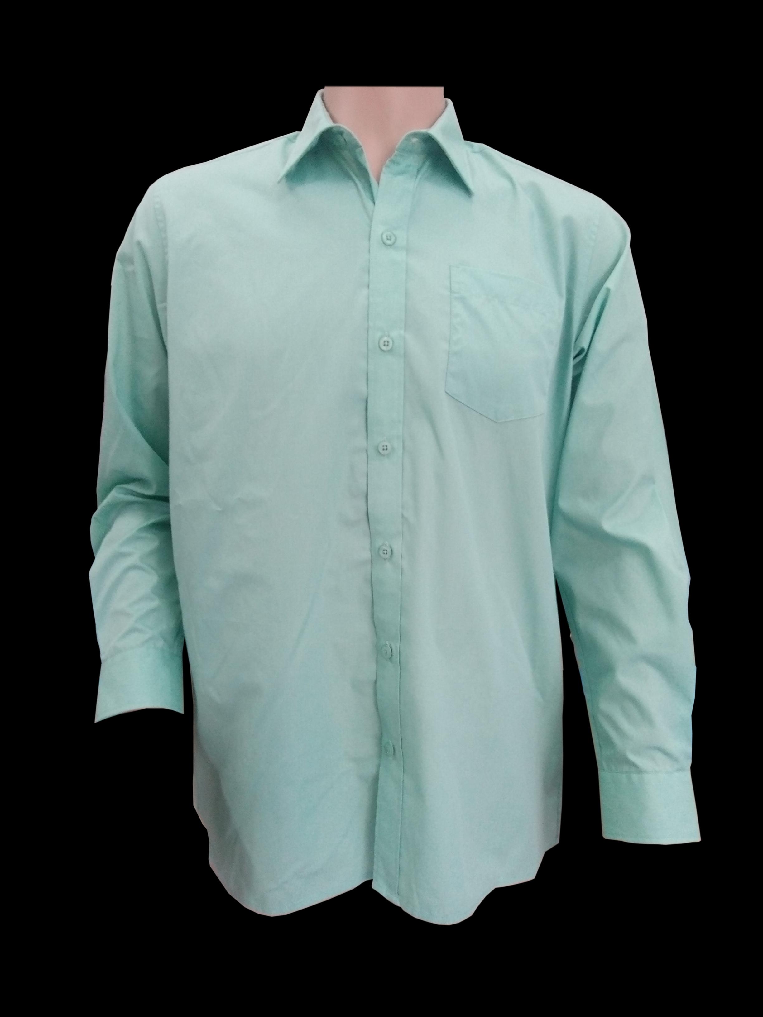 Boy Shirt Ls Mint Color Bs015 Premium School Uniforms