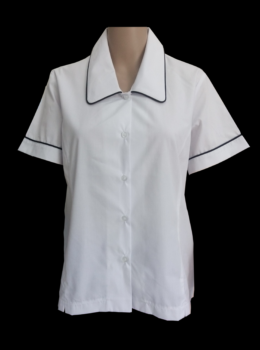 Girl blouse with piping